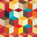 Abstract Seamless Mosaic — Stock Vector