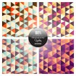 Geometric Pattern Mosaic Background — Stock Vector