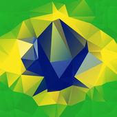 Abstract Brazil Flag — Stock Vector