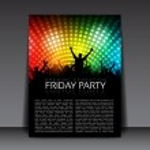 Editable Party Vector Flyer Template — Stock Vector #9369422