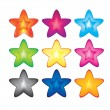 Stock Vector: Nine stars,