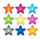 Nine stars, — Stock Vector
