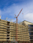 Construction site of modern building — Stock Photo