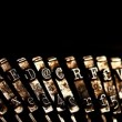 Old typewriter — Stock Video #25956153