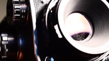 Объектив фотокамеры — Стоковое видео