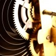Stock Video: Clock mechanism