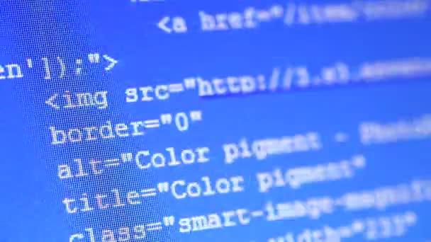 Códigos html — Vídeo de stock