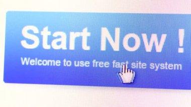 Internet web icon on LED display — Stock Video