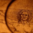 Photo of the Vitruvian Man by Leonardo Da Vinci from 1492 — Stock Video