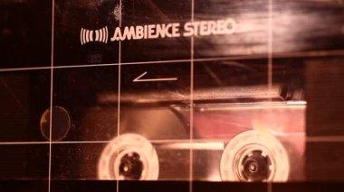 Audio cassette — Stock Video