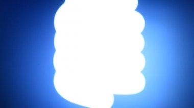 Cfl glödlampa — Stockvideo