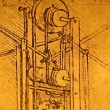 Leonardo's Da Vinci engineering drawing from 1503 — Stok video