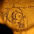 Leonardo's Da Vinci engineering drawing from 1503 — Stockvideo