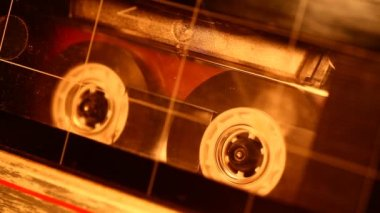 Audio cassette — Stock Video