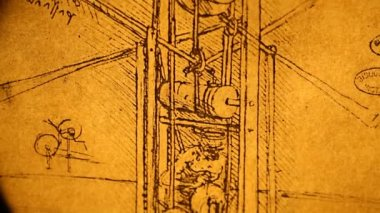 Leonardo da Vinci engineering — Wideo stockowe