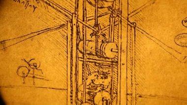 Leonardo da vinci inženýrství — Stock video