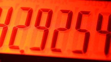 цифровой калькулятор — Стоковое видео