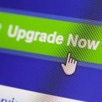 Web Icon upgrade now — Stock Photo