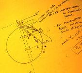 математический текст — Стоковое фото