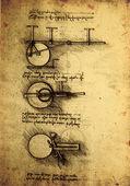 Antigo desenho de engenharia — Fotografia Stock