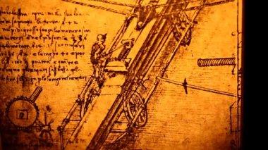 Eski mühendislik çizimi — Stok video