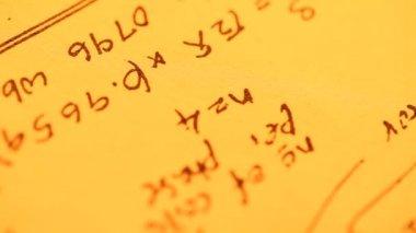 Fondo matemático — Vídeo de Stock
