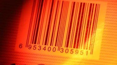 Bar Code Label — Stock Video