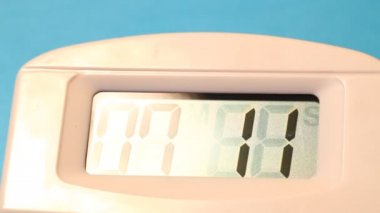 Close up of a digital timer