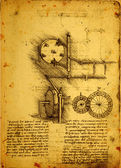 Old Engineering drawing — Zdjęcie stockowe