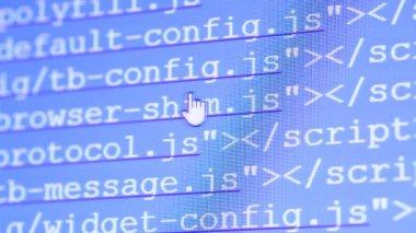 Codici html — Video Stock
