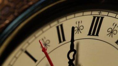 Clock close up footage — Stock Video