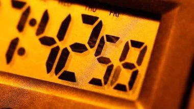 Digital timer clock — Stock video