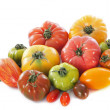 Varieties of tomatoes — Stock Photo