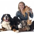 Stock Photo: Womand pet