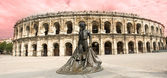 Amphitheater in Nimes — 图库照片