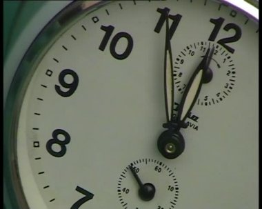 5 minuti a mezzanotte closeup — Video Stock