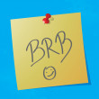 """brb"" handwritten message — Stock Vector"