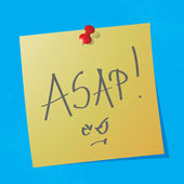 """asap"" handwriten message — Stock Vector"