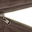 Zipper over white — Stock Photo