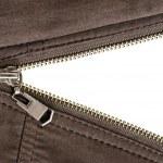 Zipper over white — Stock Photo