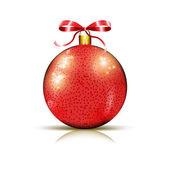 クリスマスの光沢のある赤い安物の宝石 — ストックベクタ