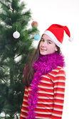 Retrato de navidad — Foto de Stock