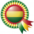 Royalty-Free Stock Vector: Bolivia rosette flag