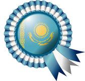 Kazakhstan rosette flag — Stock Vector