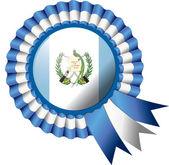 Guatemala rosette flag — Stock Vector