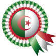 Algeria rosette flag — Stock Vector