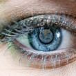 Earth Blue Eye — Stock Photo