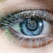 Earth Blue Eye - Stock Photo