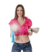 Cleaner girl — Stock Photo