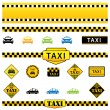 Stock Vector: Taxi Set
